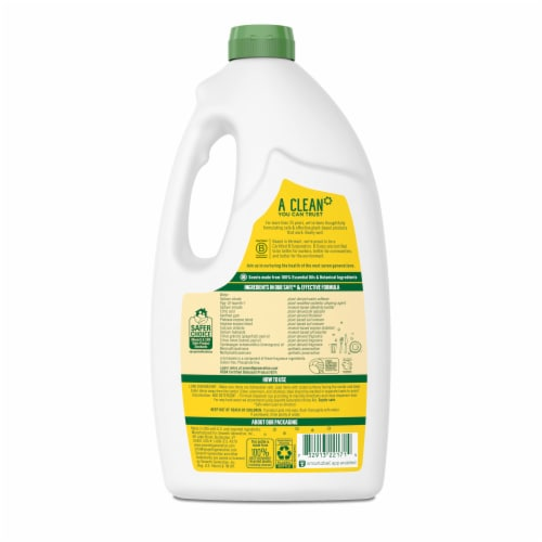 Seventh Generation Lemon Scent Dishwasher Detergent Gel Perspective: back