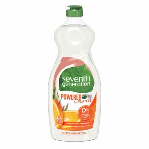Seventh Generation Clementine Zest & Lemongrass Scent Natural Dish Liquid Perspective: back