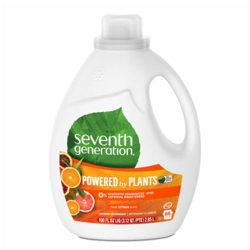 Seventh Generation® Fresh Citrus Scent Natural Laundry Detergent Perspective: back