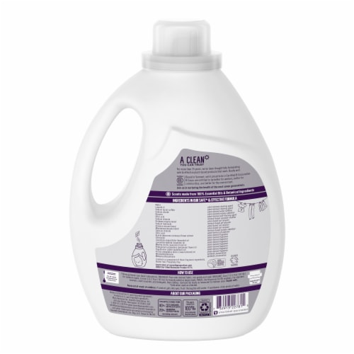 Seventh Generation Fresh Lavender Liquid Laundry Detergent Perspective: back