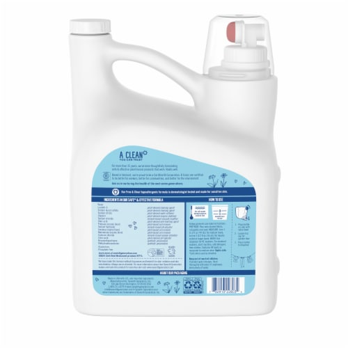 Seventh Generation Free & Clear Laundry Detergent Perspective: back