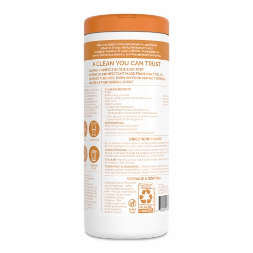 Seventh Generation® Lemongrass Citrus Scented Disinfecting Wipes Perspective: back