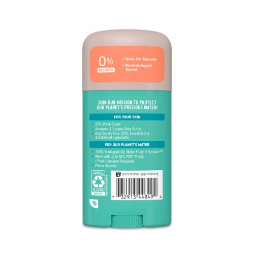 Seventh Generation Fresh Citrus Aluminum Free Solid Deodorant Perspective: back