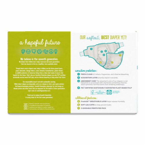 Seventh Generation® Sensitive Protection Size 6 Diapers Perspective: back