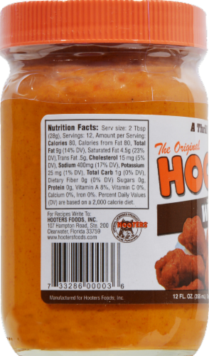 Hooters Hot Wing Sauce Perspective: back