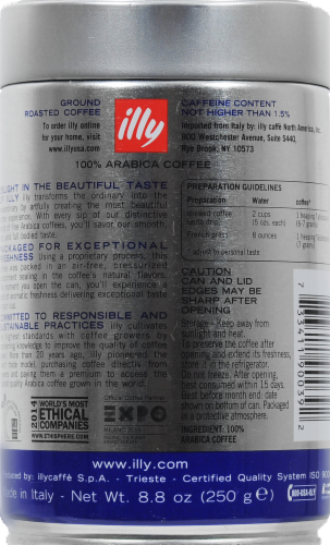 Illy Caffe Classico Roast Ground Coffee Perspective: back