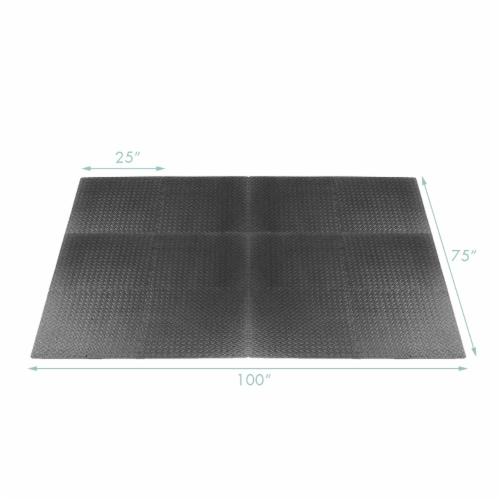 Costway 12Tiles 1/2'' Puzzle Exercise Floor Mats w/EVA Foam Interlocking Tiles (25''x25'') Perspective: back