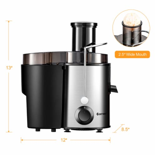 Costway Juicer Machine Centrifugal Juice Extractor Wide Mouth & 2 Speed BPA Free Perspective: back