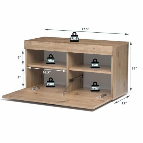 Costway Shoe Rack Storage Cabinet Storage Chest Organizer Entryway Bedroom Perspective: back