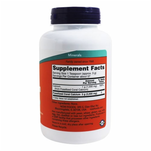 NOW Foods Coral Calcium Powder Perspective: back