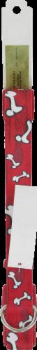 Alliance Red Bones Large Dog Collar Perspective: back