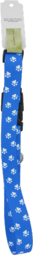 Alliance Large Blue Paw Print Collar Perspective: back