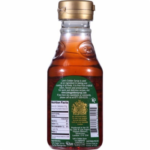 Lyle's Golden Syrup Cane Sugar Syrup Perspective: back