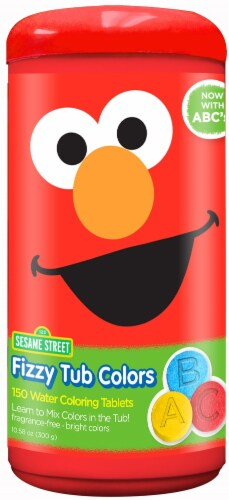 Sesame Street Fizzy Tub Colors Perspective: back