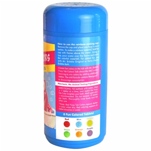 Mr. Bubble Fizzy Tub Water Coloring Tablets Perspective: back