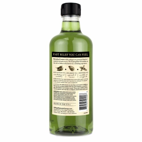 Village Naturals Therapy Aches + Pains Muscle Relief Foaming Bath Oil & Body Wash Perspective: back