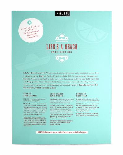 Hallu Life's A Beach Bath Gift Set Perspective: back