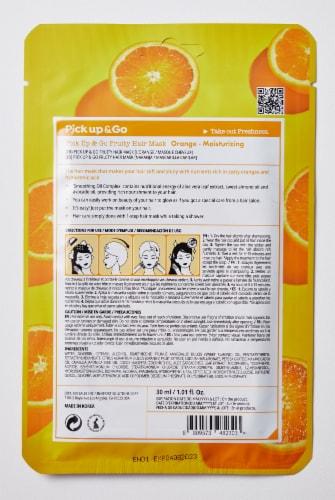 Pick Up & Go 15 Sheets Moisturizing Orange Hair Mask Cap Perspective: back