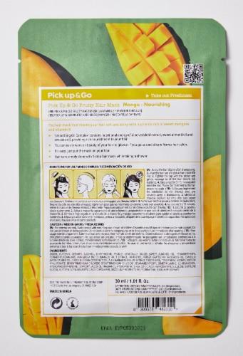 Pick Up & Go 15 Sheets Nourishing Mango Hair Mask Cap Perspective: back