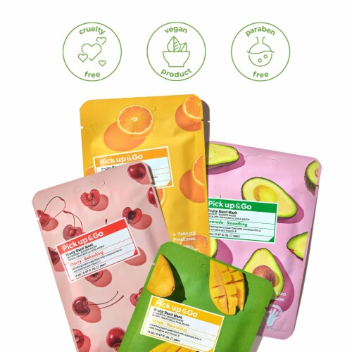 Pick Up & Go 15 Sheets Smoothing Avocado Hand Mask Perspective: back