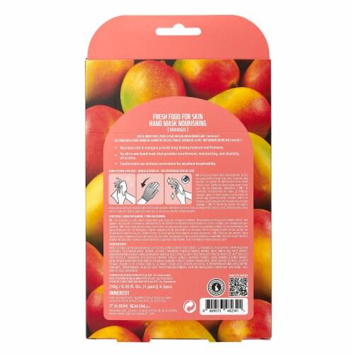 FARMSKIN 3 Sheets Nourishing Mango Hand Masks (Freshfood) Perspective: back