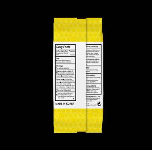 (4PK) pullio - Citrus Antibacterial Hypoallergenic Hand Sanitizer Wipes - 20ct, 80 Wipes Perspective: back