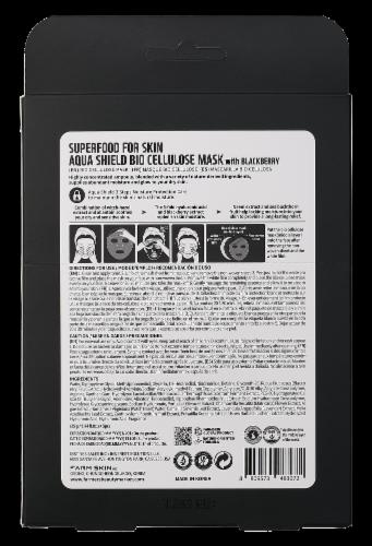 FARMSKIN 5 Sheets Aqua Shield Blackberry Bio Cellulose Masks Perspective: back