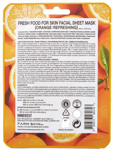 FARMSKIN 10 Sheets Refreshing Set Facial Sheet Masks (Freshfood) Perspective: back