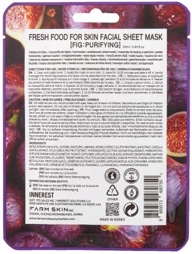FARMSKIN 10 Sheets Purifying Set Facial Sheet Masks (Freshfood) Perspective: back