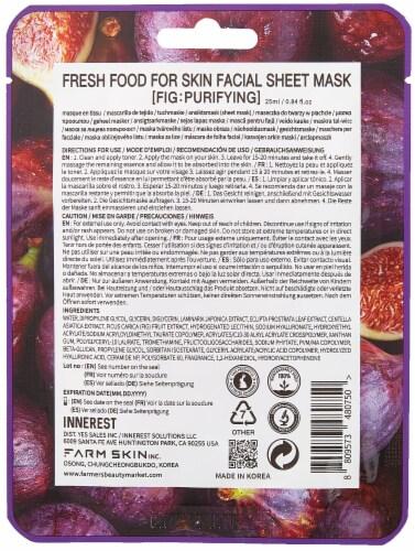 FARMSKIN 12 Sheets Purifying Fig Facial Sheet Masks (Freshfood) Perspective: back