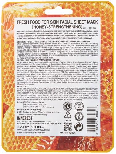 FARMSKIN 12 Sheets Strengthening Honey Facial Sheet Masks (Freshfood) Perspective: back