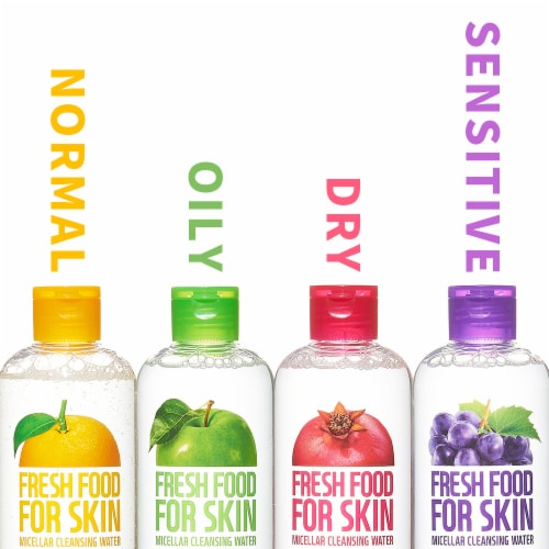 FARMSKIN 4 Assorted Makeup Remover Micellar Water for All Skin Types (Freshfood) Perspective: back