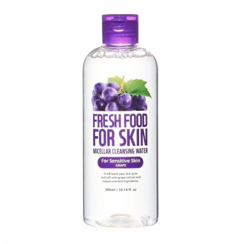 FARMSKIN Triple Grape Cleansing Set for Sensitive Skin (Freshfood) Perspective: back