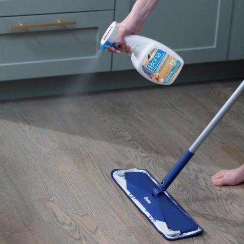 Bona  PowerPlus  No Scent Hardwood Floor Cleaner  Liquid  36 oz. - Case Of: 8; Perspective: back