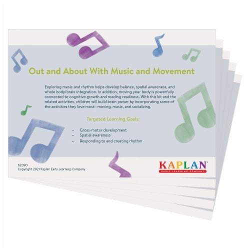Kaplan Early Learning Out and About With Music & Movement Kit Perspective: back