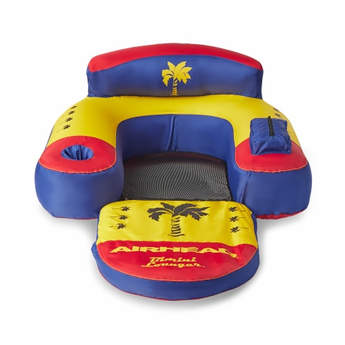 Airhead AHBL-3 Bimini Lounger II Inflatable Pool Lake Lounge Raft, (1 Person) Perspective: back