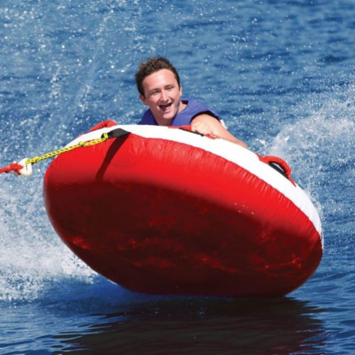 Airhead AHHS-12 Hot Shot 2 Inflatable Round Deck Single Rider Towable Lake Tube Perspective: back