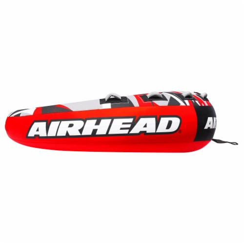 """Airhead AHSSL-42 Slice 100"""" Inflatable Double Rider Towable Lake Tube Water Raft Perspective: back"""