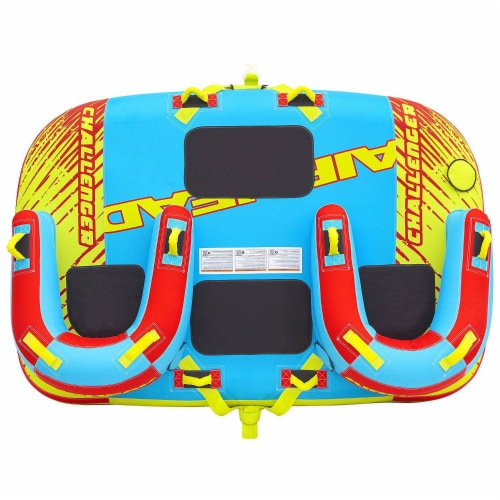 Airhead 1-3 Rider Challenger Inflatable Towable Boating Water Sports Lake Tube Perspective: back