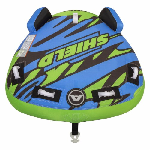 Airhead AHSH-T1 Shield Single Person Towable Inflatable Water Tube w/ 4 Handles Perspective: back