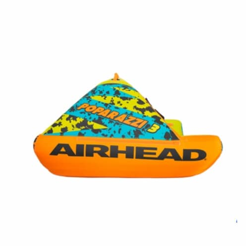 Airhead AHPZ-1750 Poparazzi 3 Person Inflatable Towable Water Lake Boating Tube Perspective: back