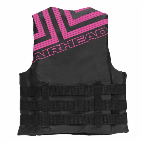 Airhead Trend Life Jacket Vest for Kayaking & Boating, Adult 2-3XL (Pink/Black) Perspective: back
