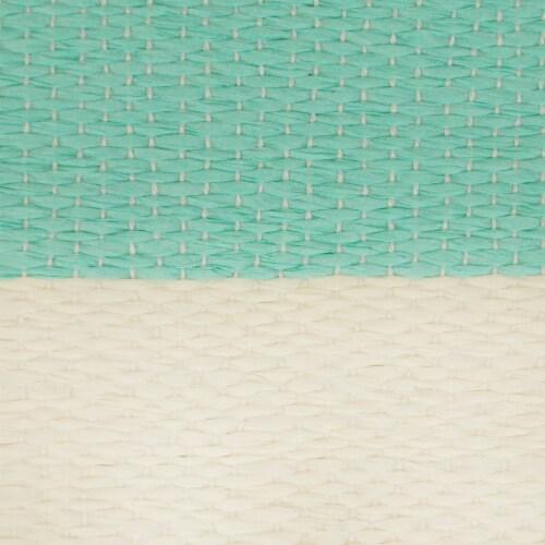 DII Paper Bin Stripe Aqua Rectangle Small Perspective: back