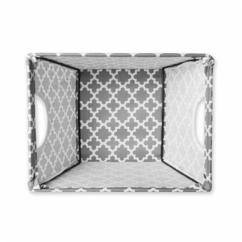 DII Polyester Bin Lattice Gray Trapezoid Small Perspective: back