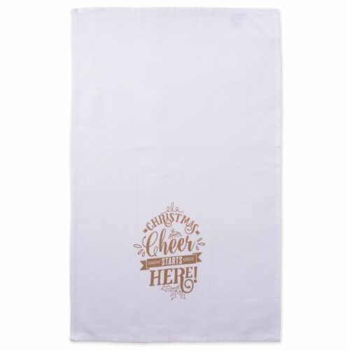 Design Imports Assorted Christmas Cheer Printed Dish Towel Set - Set of 2 Perspective: back