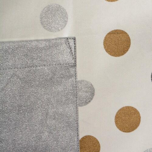 DII Metallic Confetti Chef Apron Perspective: back