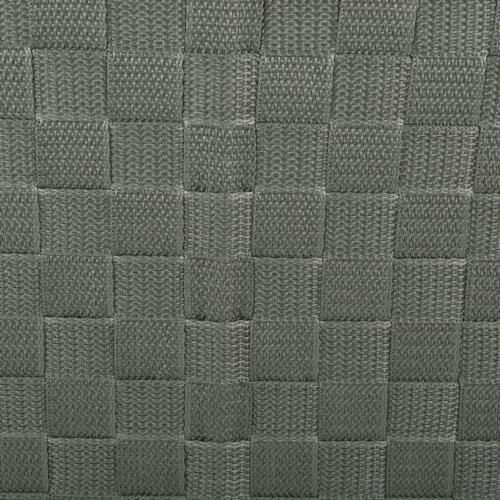 Design Imports 38909 13 x 13 x 13 in. Trapezoid Nylon Storage Bin Basketweave, Olive-Set of 2 Perspective: back