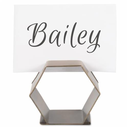 DII Antique Brass Place Holder Napkin Ring (Set of 6) Perspective: back