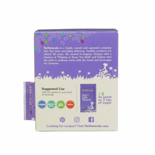 NuNaturals NuStevia White Stevia Powder Packets Perspective: back