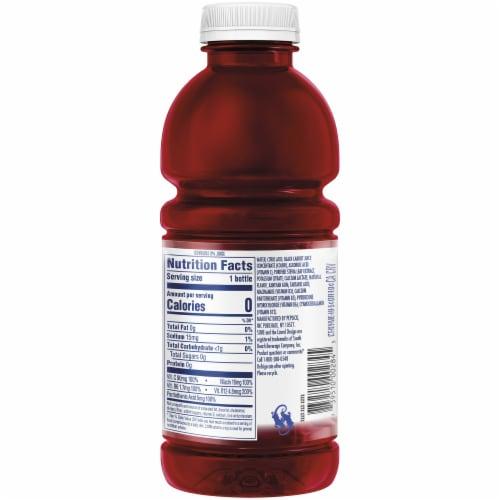 SoBe Water Vitamin Enhanced Zero Calories Black Berry Perspective: back
